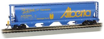 Bachmann 73806 HO Cylindrical Grain Hopper with FRED - Alberta #628311 - Carstairs