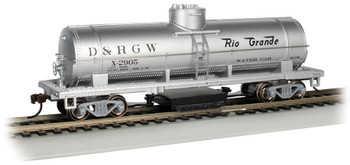 Bachmann 16310 HO Rio Grande Water #X-2905 - Track-Cleaning Single-Dome Tank Car