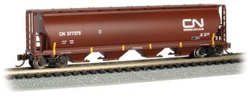 Bachmann 19161 N Canadian National (Oxide Red) - 4 Bay Cylindrical Grain Hopper