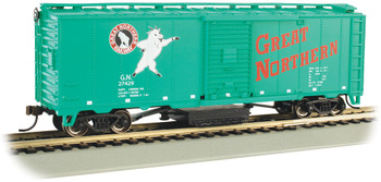 Bachmann 16321 HO Great Northern #27429 - Track-Cleaning 40' Box Car