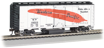 Bachmann 16322 HO Western Pacific? #19522 (Feather) - Track-Cleaning 40' Box Car