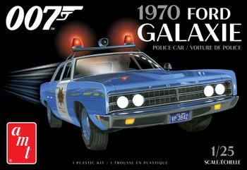 AMT 1172 1:25 1970 Ford Galaxie Police Car (James Bond) Model Kit