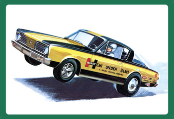 "AMT 1153 1:25 1966 Plymouth Barracuda ""Hemi Under Glass"" Model Kit"