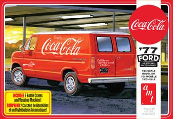 AMT 1173 1:25 1977 Ford Van W/Vending Machine (Coca-Cola) Model Kit