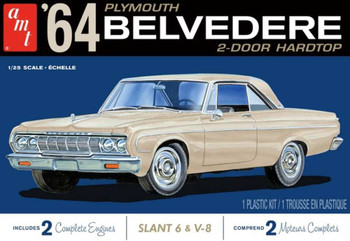 AMT 1188 1:25 1964 Plymouth Belvedere (W-Slant 6 Engine) Model Kit