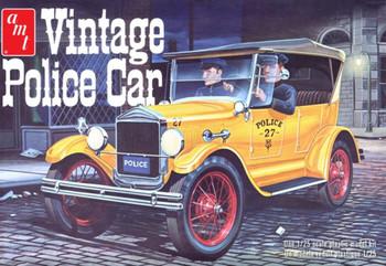 AMT 1182 1:25 1927 Ford T Vintage Police Car Model Kit