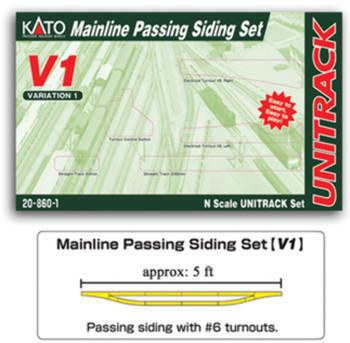 Kato 20860 N V1 Mainline Passing Siding Set