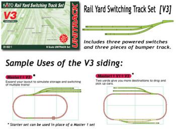 Kato 20862 N V3 Rail Yard Switching Set