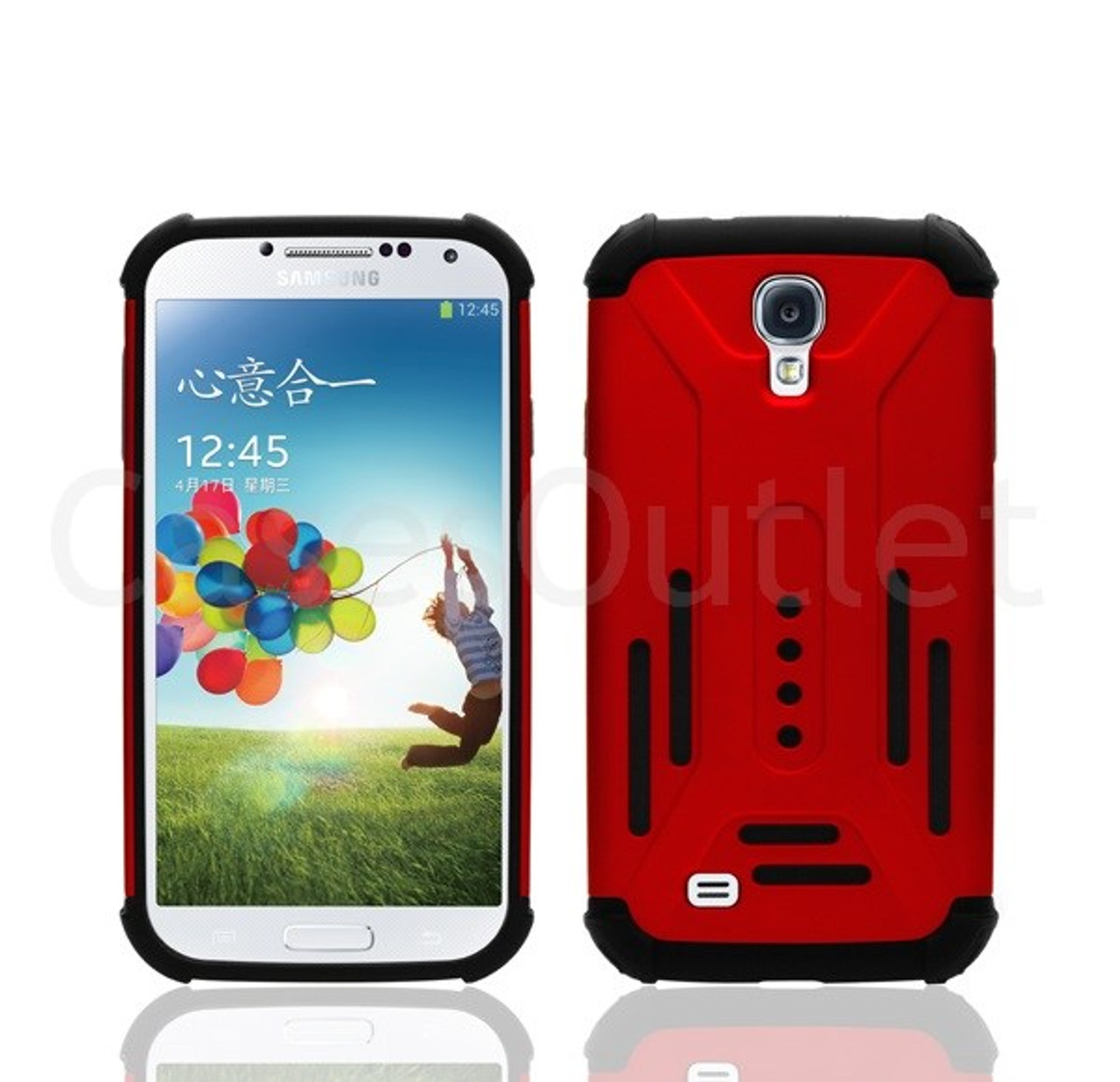 promo code 12d2f 37d36 Red Slim Hybrid Case Cover For Samsung Galaxy S4