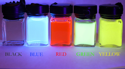 IFPAP inks under 385nm UV illumination
