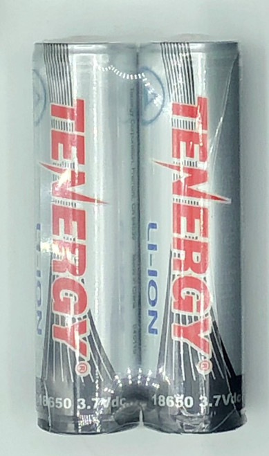 Rechargeable Tenergy 18650 Li-Ion battery PAIR