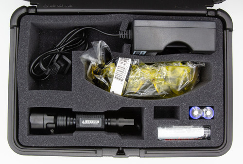 High flux 385nm UV inspection flashlight kit