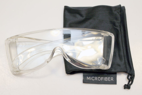 Clear premium wraparound viewing glasss 400nm cutoff