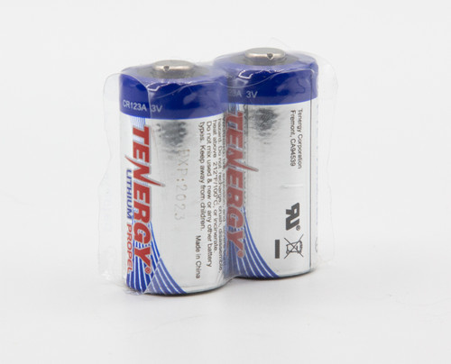 Tenergy 1500mAhr 3.0V lithium primary cells (pair).