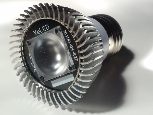 Nichia 365nm NDT inspection screw-in light bulb (E27-base)