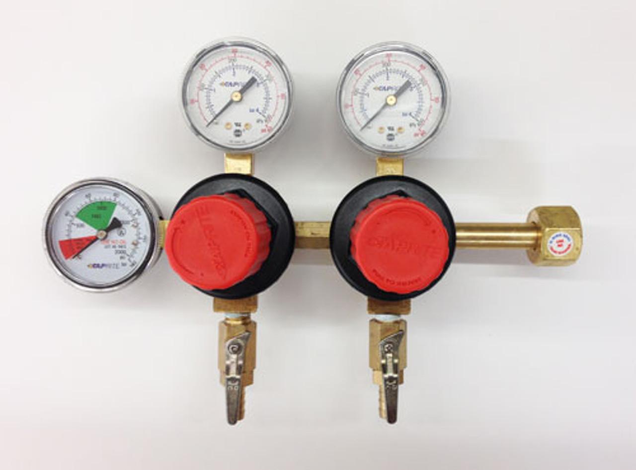 Polycarbonate Bonnet Beer Separate Pressure Adjusting 2 Product CO2 Regulator