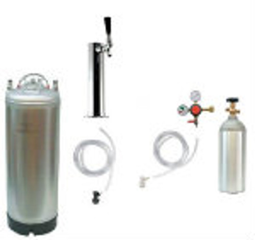 Tower Mount Kegerator 1 - 3 Faucet Set-Up w/ New Keg