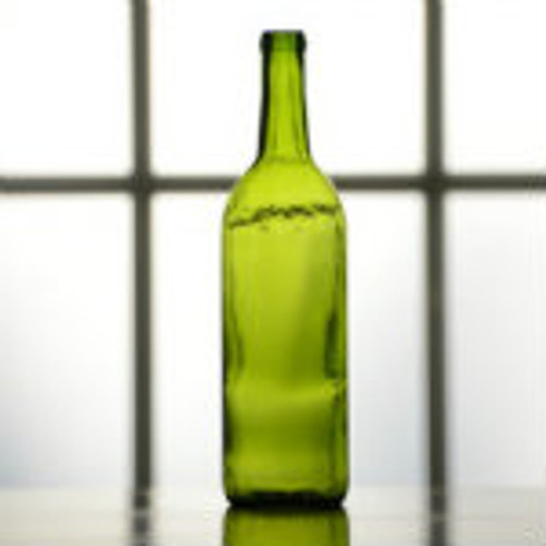 750 ml green bordeaux wine bottle