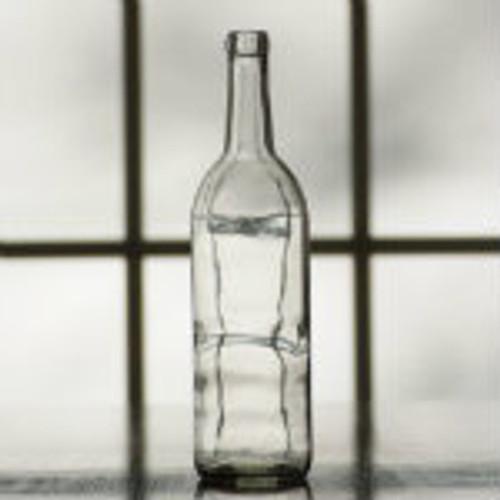 750 ml. clear bordeaux wine bottle