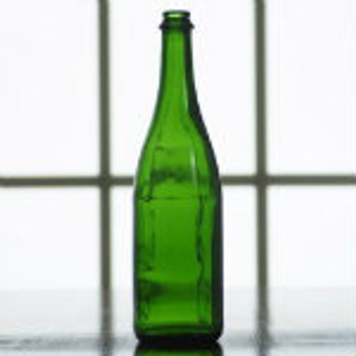750 ml green champagne bottle.
