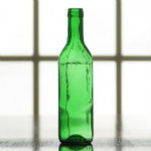 375 ml. green wine bottles.