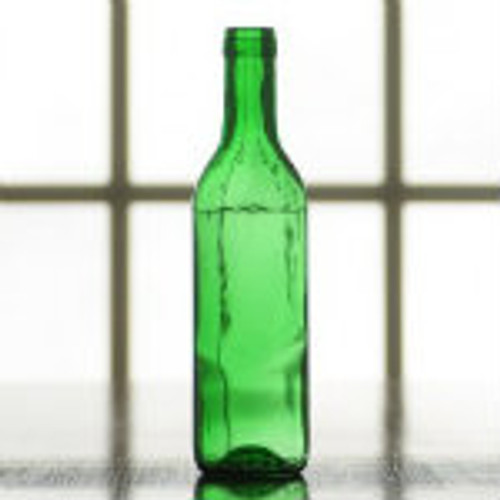 375 ml. green wine bottles.