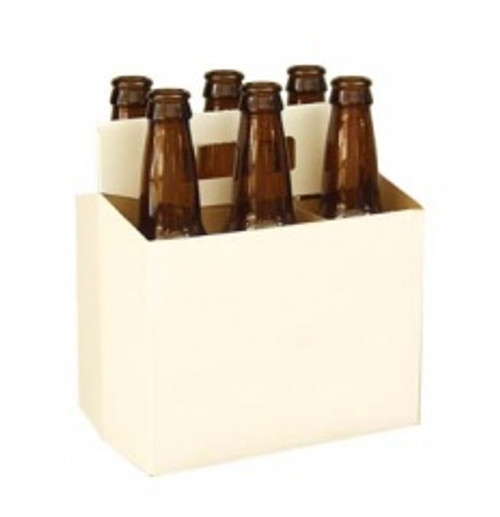 White six pack carrier