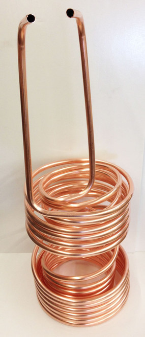 Double Coil Copper Immersion Chiller with 5/10 Split