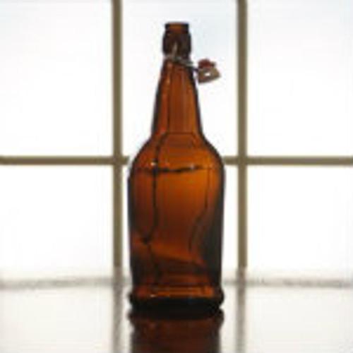 EZ Cap Flip Top Bottles Amber, 500 ML --- Case/12