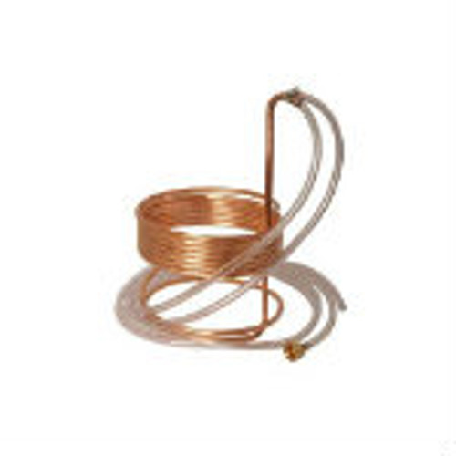 Quick Chill 25' Copper Immersion Chiller with Tubing and Garden Hose Fittings or Solid Fittings