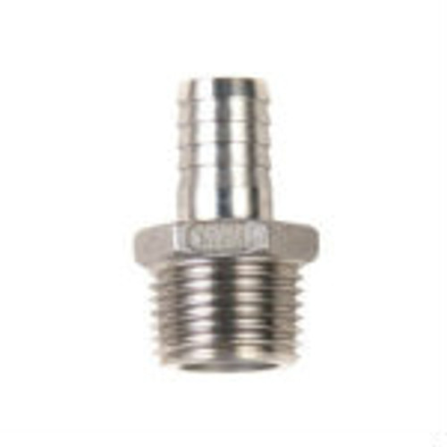 Stainless Steel - 1/2 in. MPT x 1/2 in. Barb