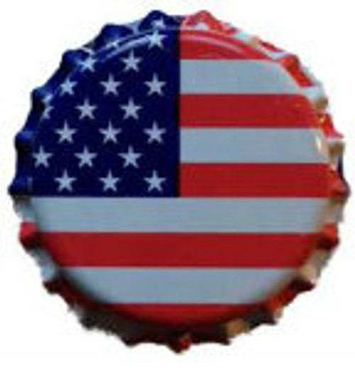 Oxygen Absorbing Bottle Caps - US Flag (144 count)