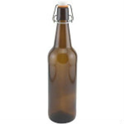 Flip Top Bottles Amber, 500 ml. --- Case/12