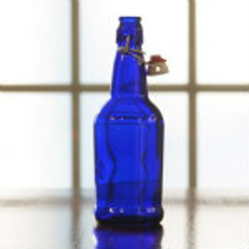 EZ Cap Flip Top Bottles Cobalt Blue, 500 ml. --- Case/12