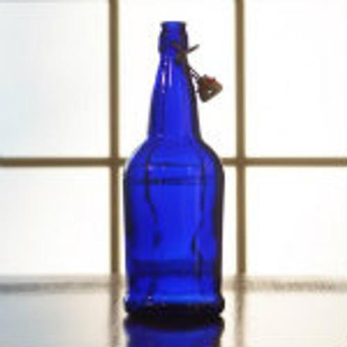 Blue Flip Top Bottles