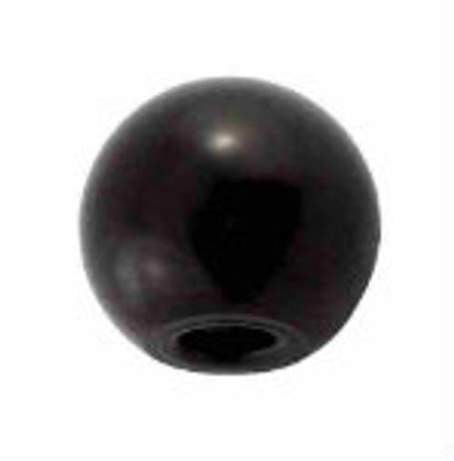 Faucet Knob - Round Black