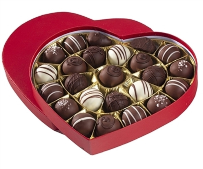 Large Chocolate Truffle Heart Box