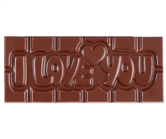 """I Love You"" Milkless Bar"