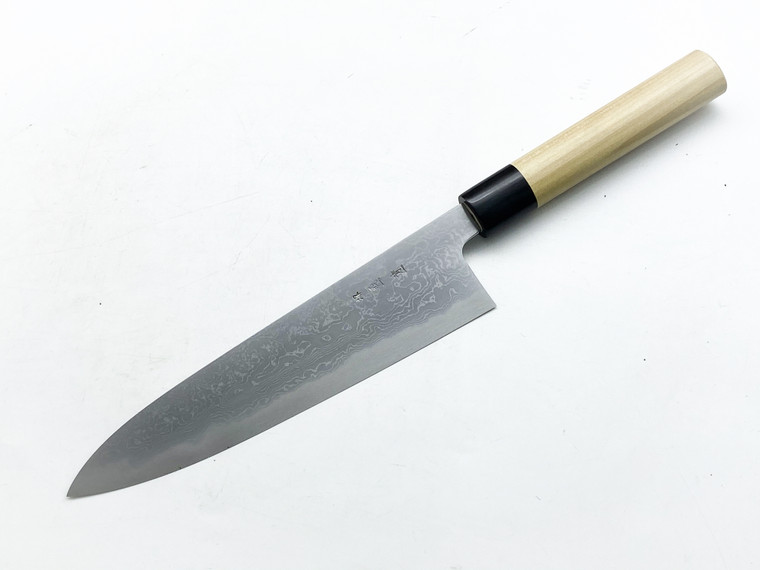 Tanaka Yoshikazu Gyuto 240mm Blue 1 Damascus