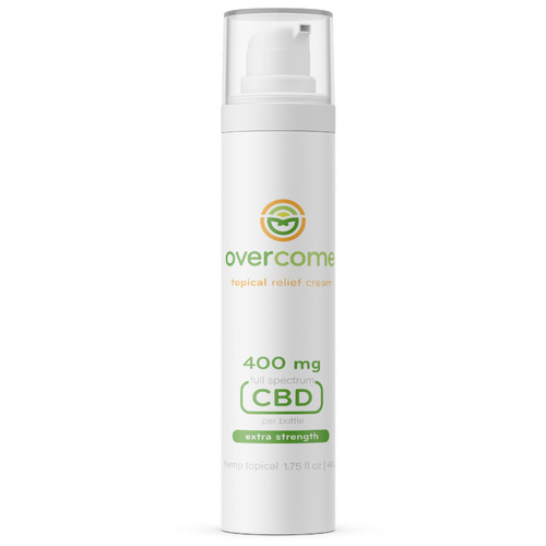 Overcome - Topical Relief Cream - 400 MG of CBD - 1.75 fl oz pump bottle
