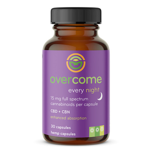 Overcome Every Night - 30ct - 15mg Full Spectrum Capsules with CBD and CBN