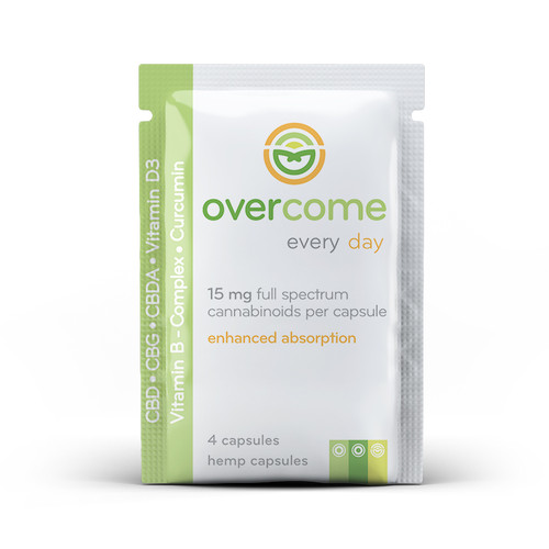 Overcome Every Day 4ct 15mg Sample Packet CBD-CBDA-CBG
