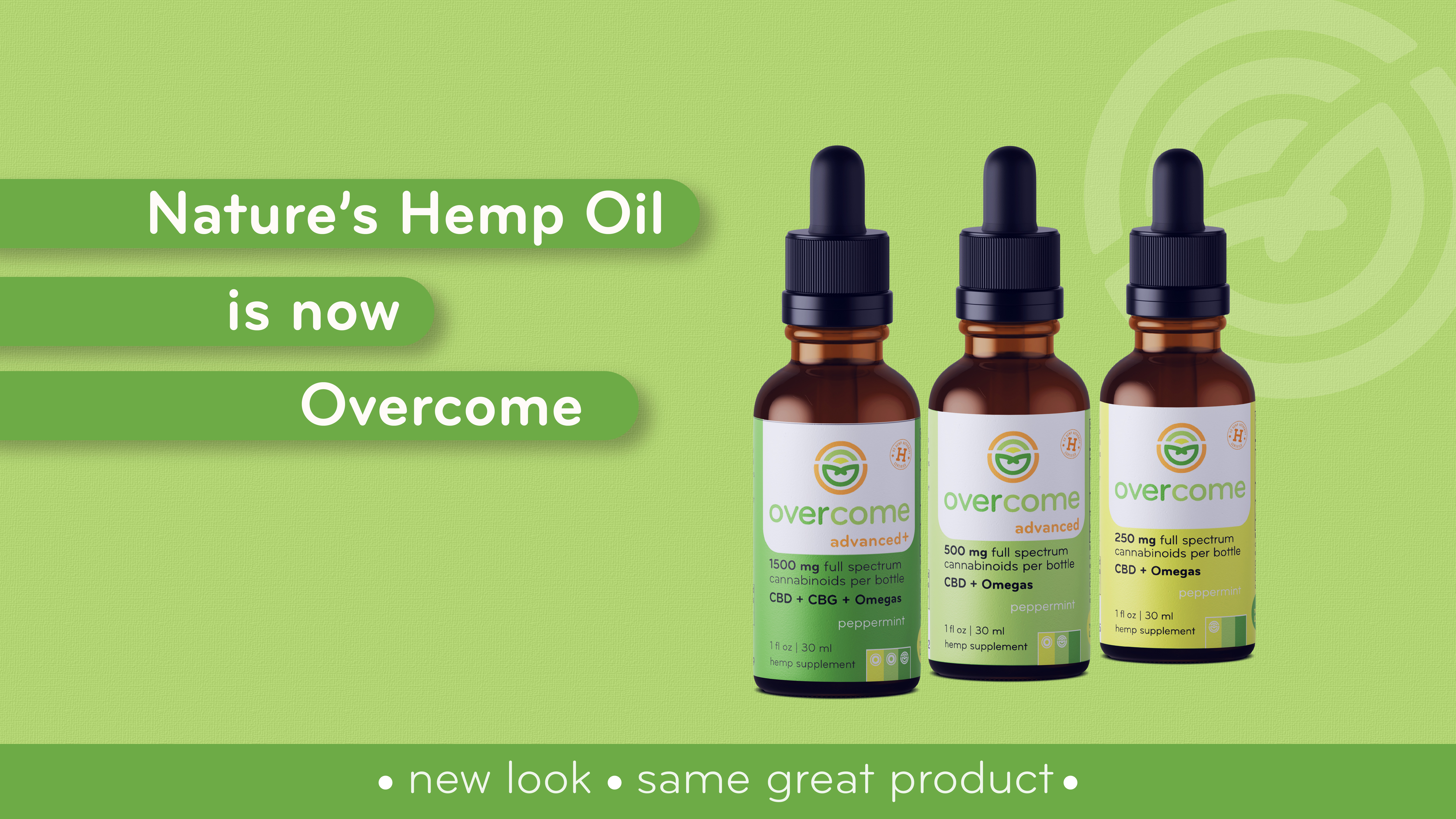 Natures Hemp Oil is now Overcome