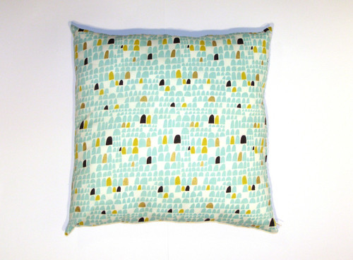 Organic Cotton Cushion Cover - Gold and Green