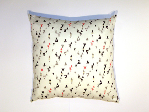 Organic Cotton Cushion Cover - Cream Geometric