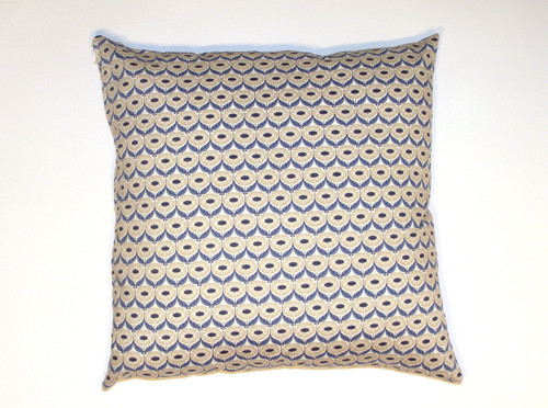 Organic Cotton Cushion Cover - Blue Floral