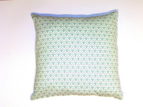 Organic Cotton Cushion Cover - Green Floral