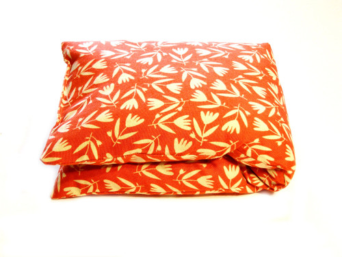 Wheat Bag - Red Floral Cotton Rectangle