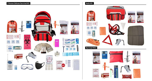 1 Person -Home / Office / Car Kit  Emergency Survival Kit
