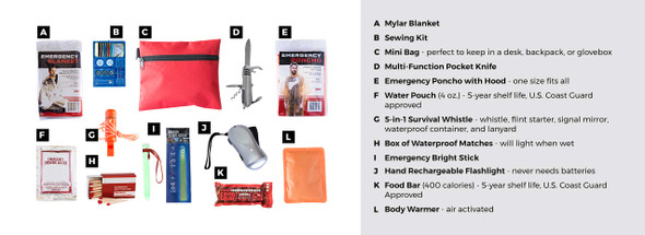 Survival Mini - Emergency Survival Kit - Qty 1